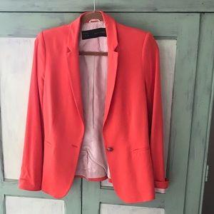 Zara Basic Coral Blazer